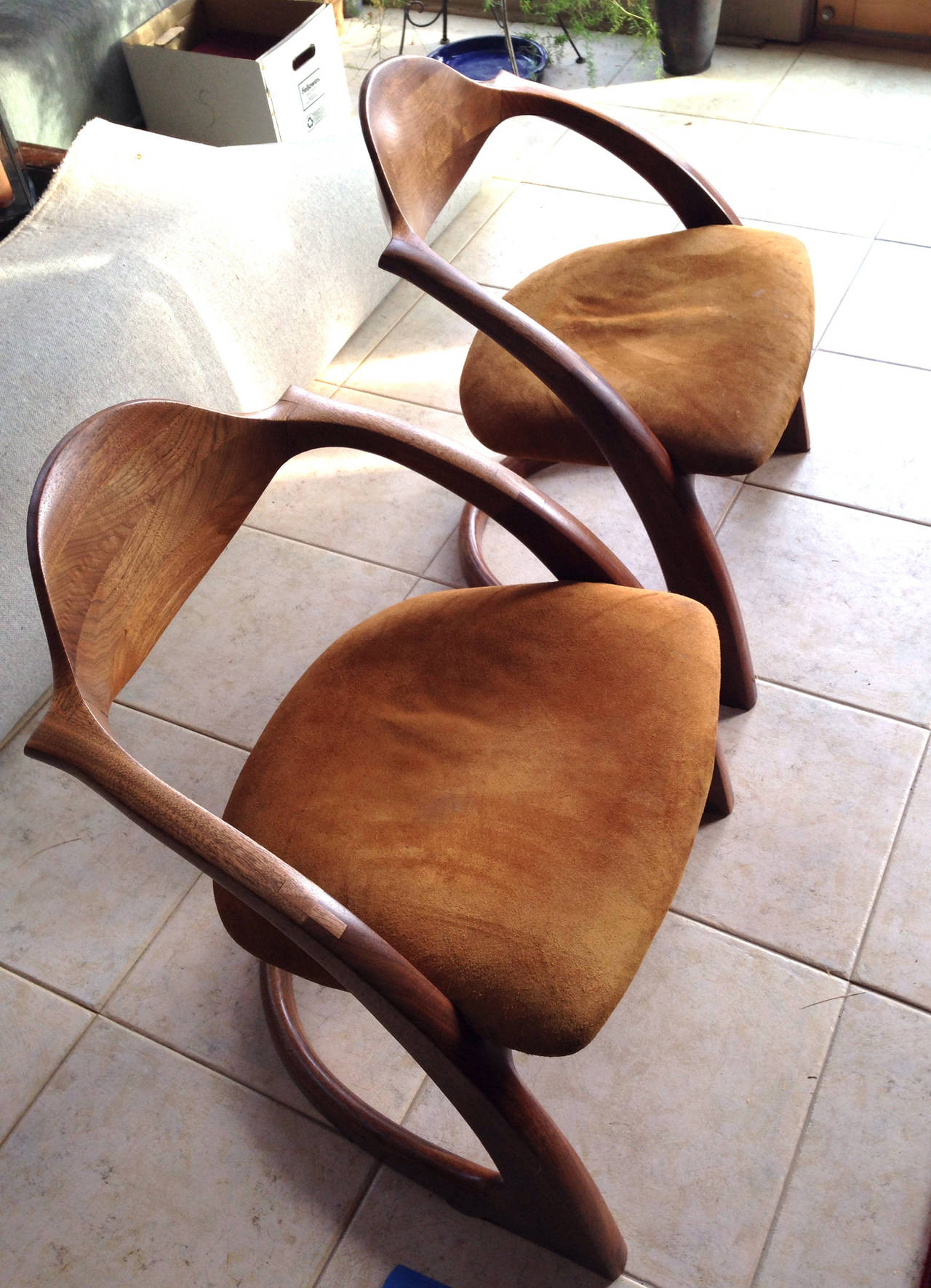 Pair of Wendell Castle Zephyr Chairs For Sale 1