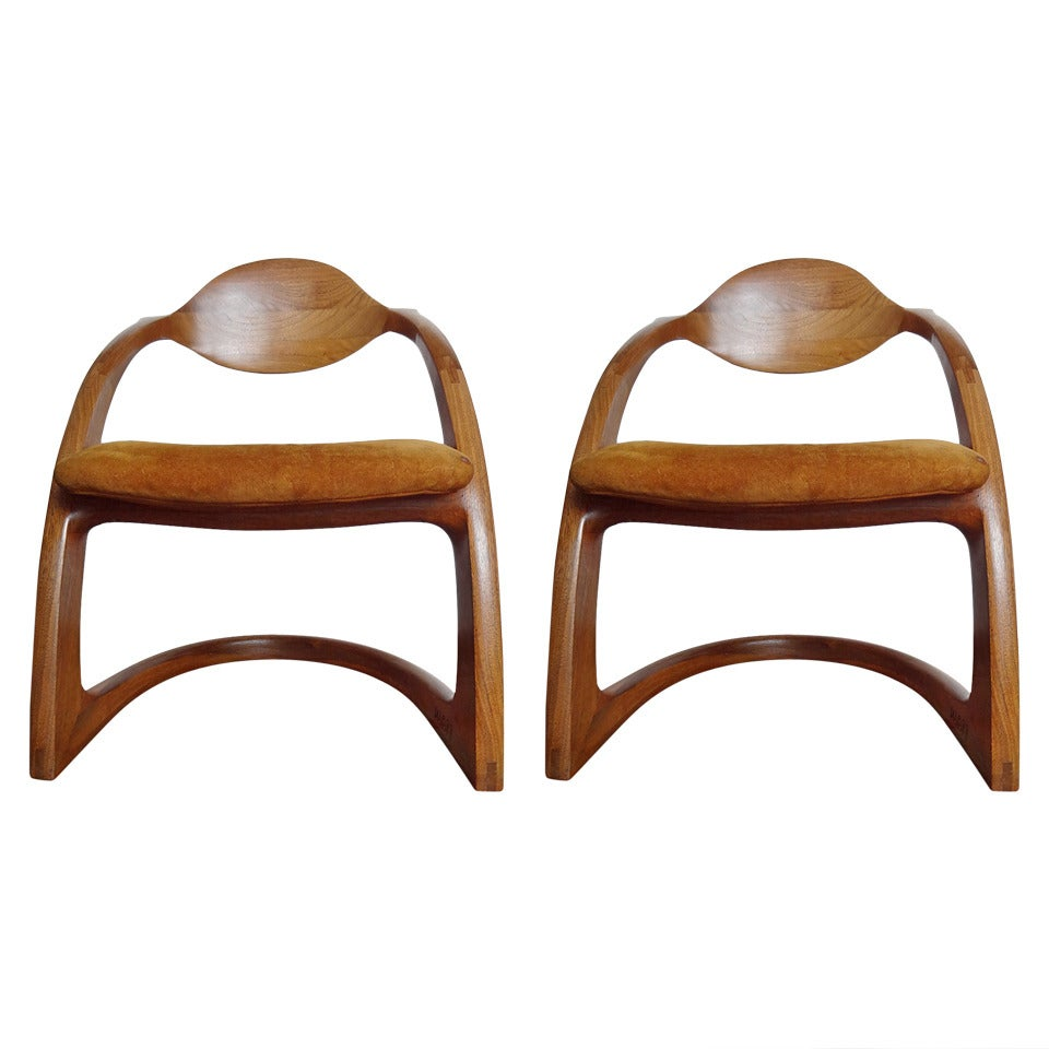 Pair of Wendell Castle Zephyr Chairs For Sale