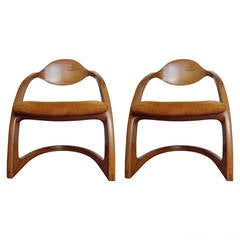 Charming Pair Of Wendell Castle Zephyr Chairs