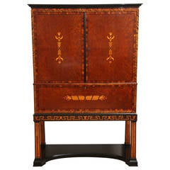 Rare Swedish Grace Inlaid Cabinet by Thore Johannson