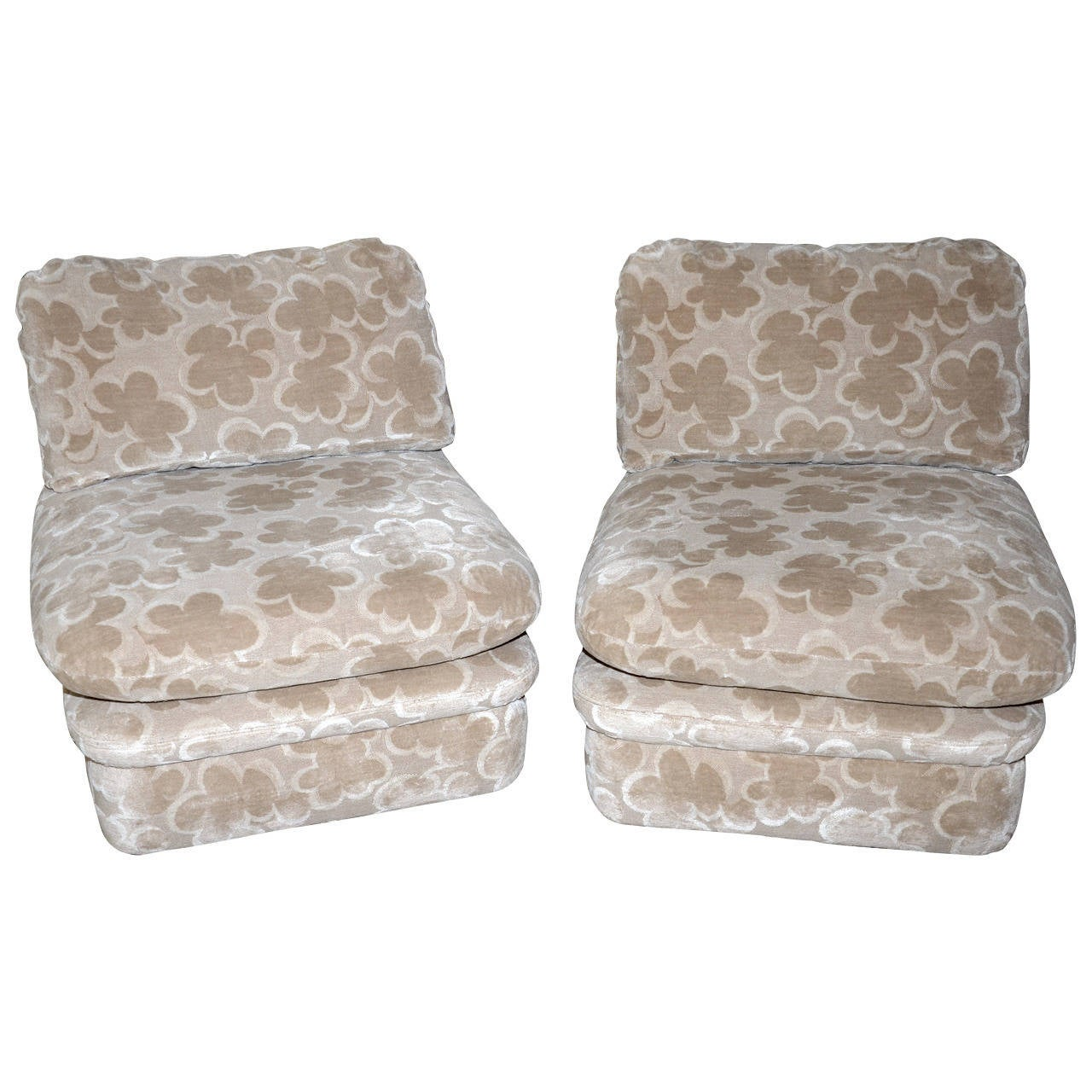 Pair of J. Robert Scott Clouds Slipper Chairs