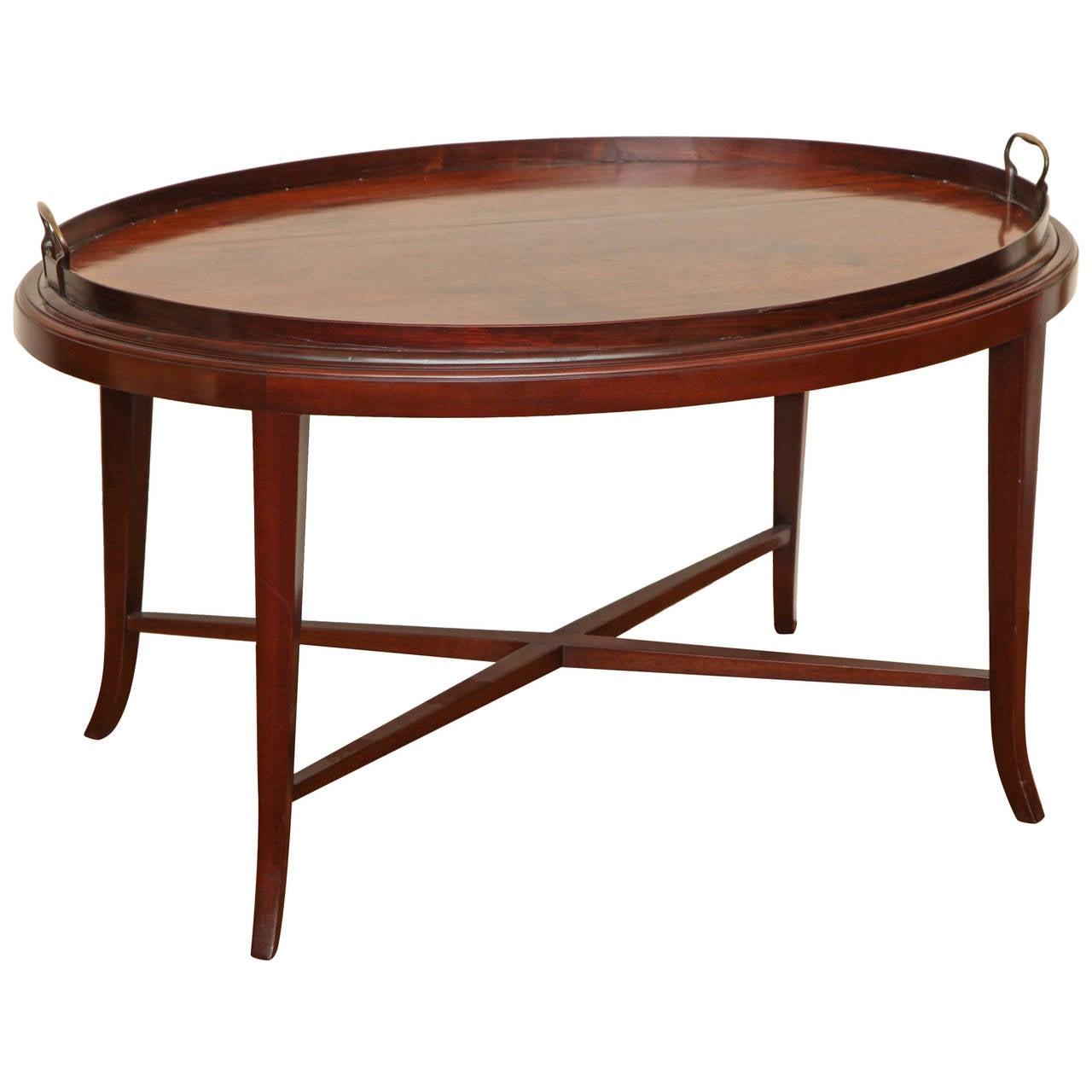 english edwardian oval mahogany tray table at stdibs - english edwardian oval mahogany tray table