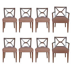 Set of Eight T.H. Robsjohn-Gibbings for Widdicomb Mahogany Dining Chairs