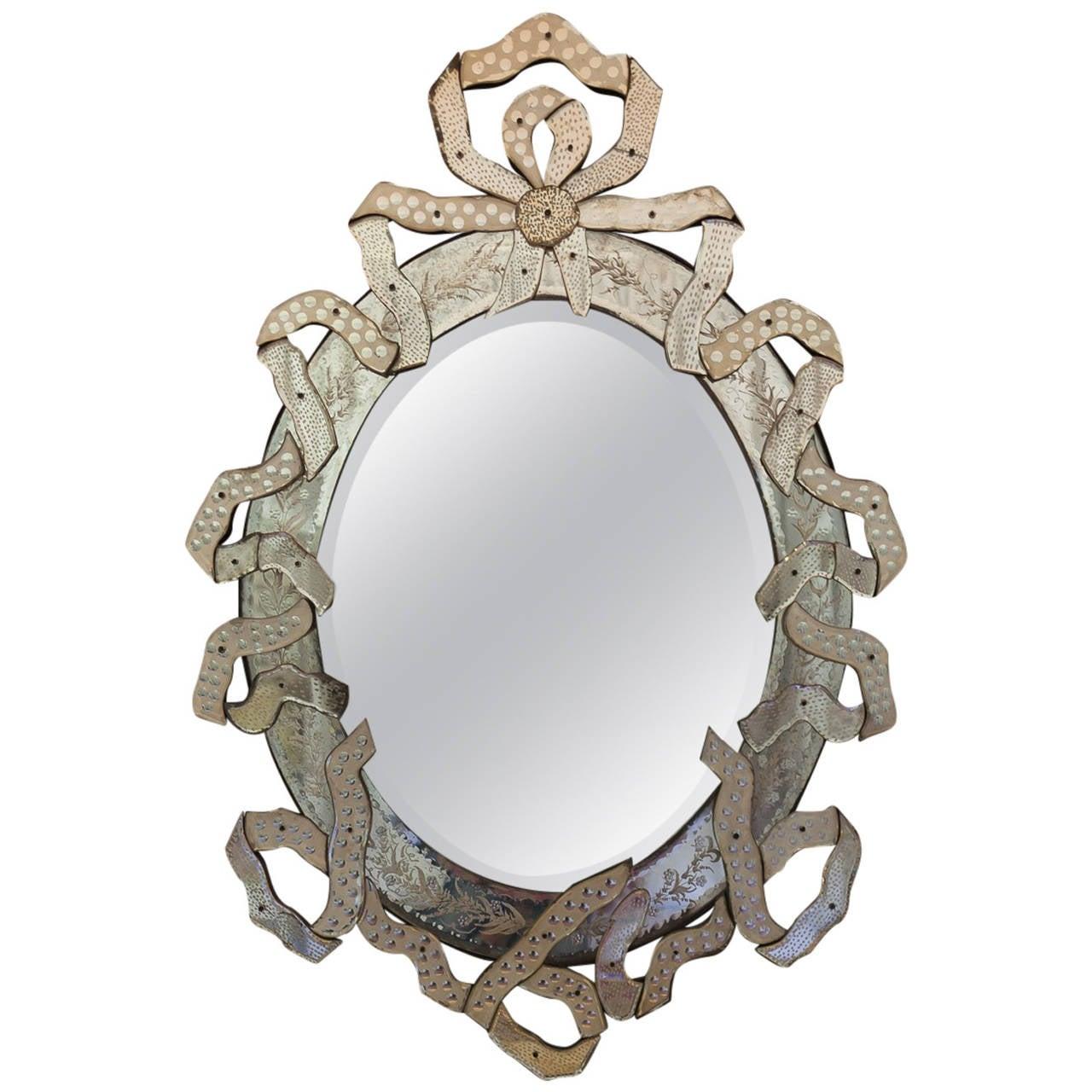"""Paley"" Venetian Ribbon Mirror"