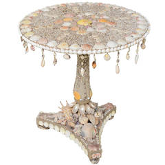Seashell Encrusted Grotto Table