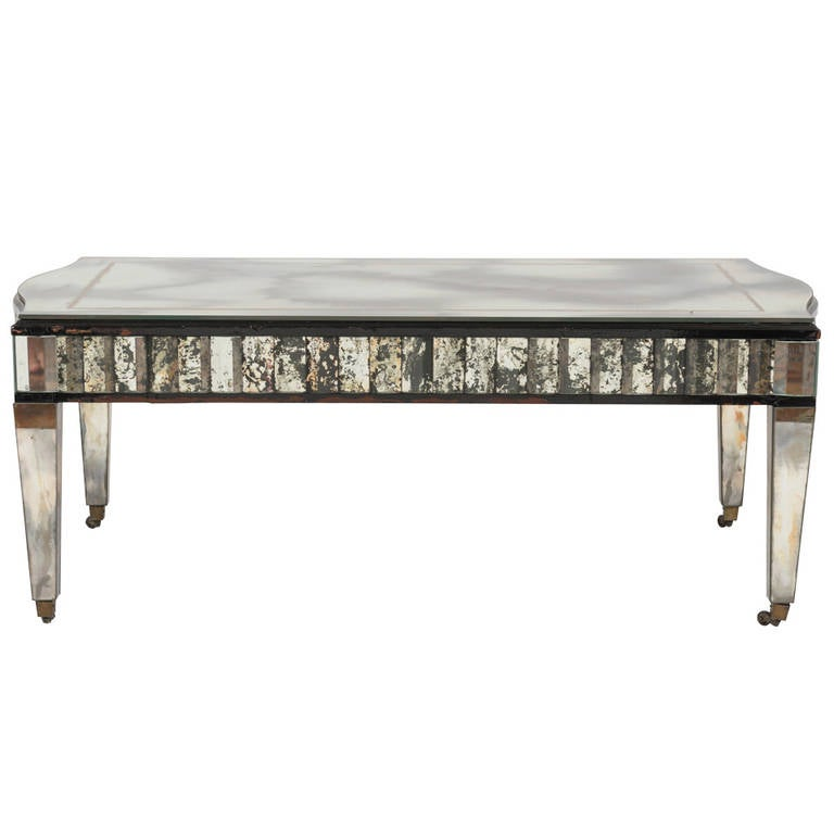 Hollywood Regency Mirrored Cocktail Table For Sale At 1stdibs