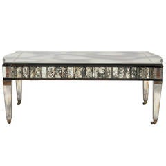 Hollywood Regency Mirrored Cocktail Table