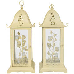 Pair of Chinoiserie Pagoda Lanterns