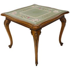 Chippendale George II Walnut Concertina Action Games Table