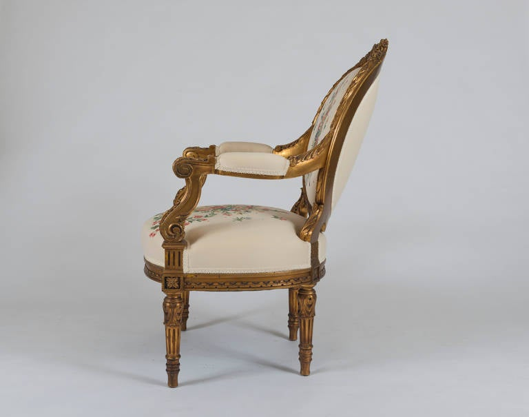 louis philippe giltwood fauteuil for sale at 1stdibs