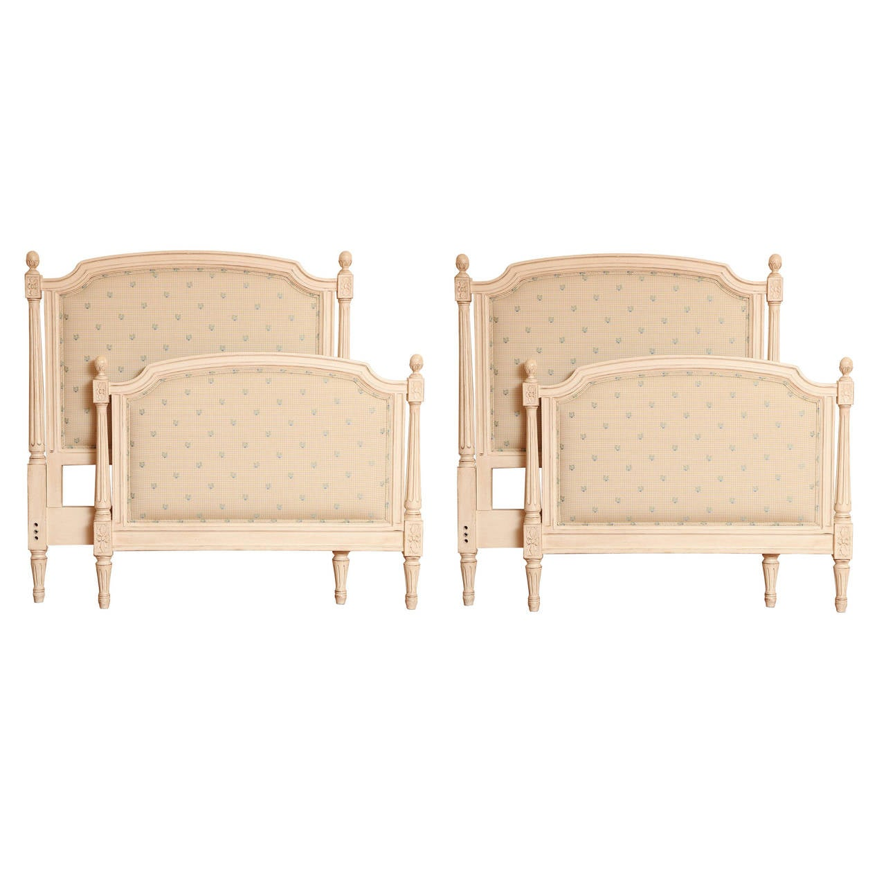 Pair Of Louis Xvi Style Antique White Twin Beds At 1stdibs