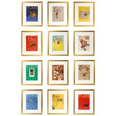 Complete Series of Framed Vintage Flair Magazines