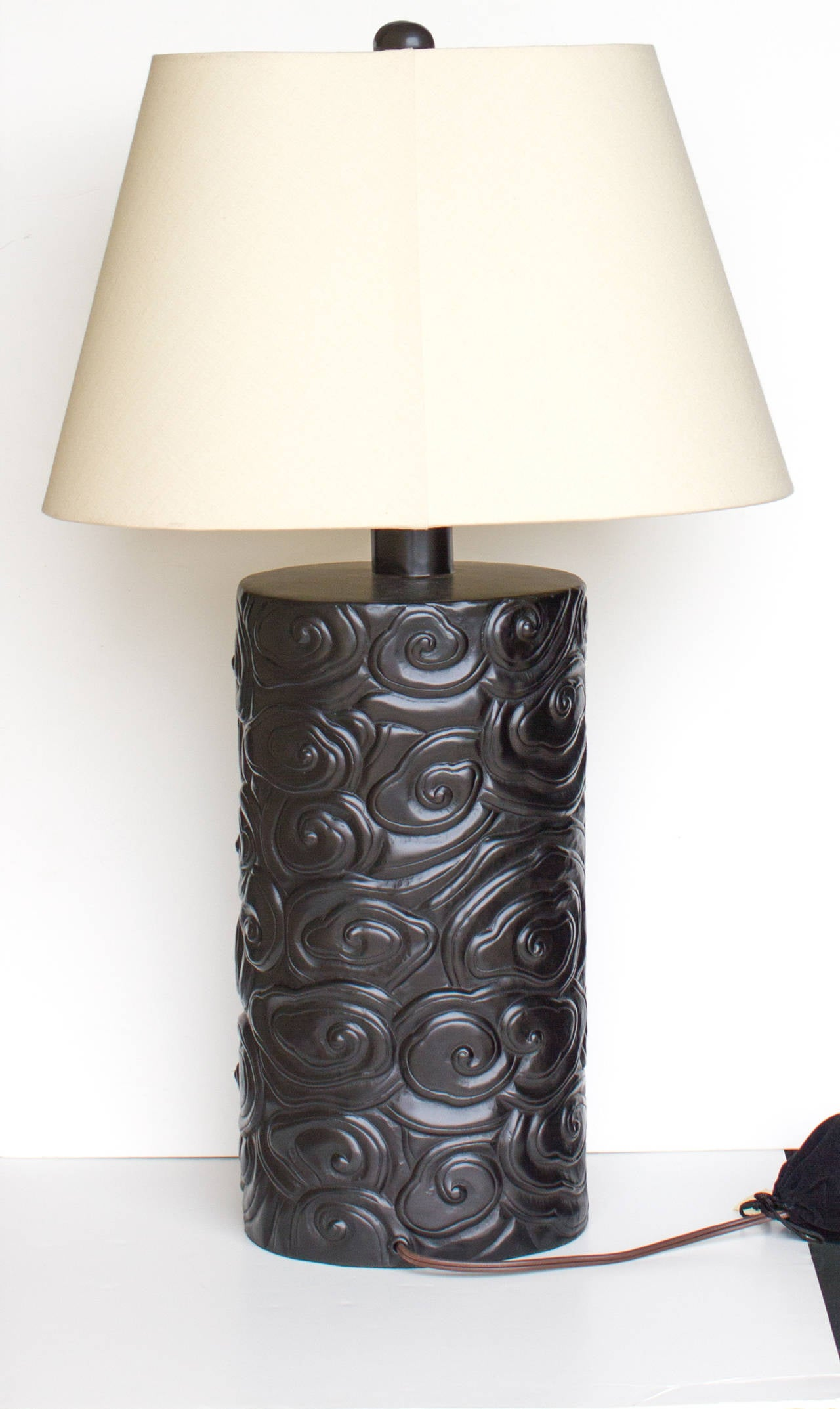Robert Kuo Cloud Lamp In Black Copper At 1stdibs