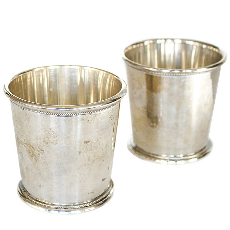 Pair of Vintage Sterling Silver Mint Julep Cups at 1stdibs