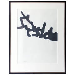 Black and White Lithograph by Eduardo Chillida