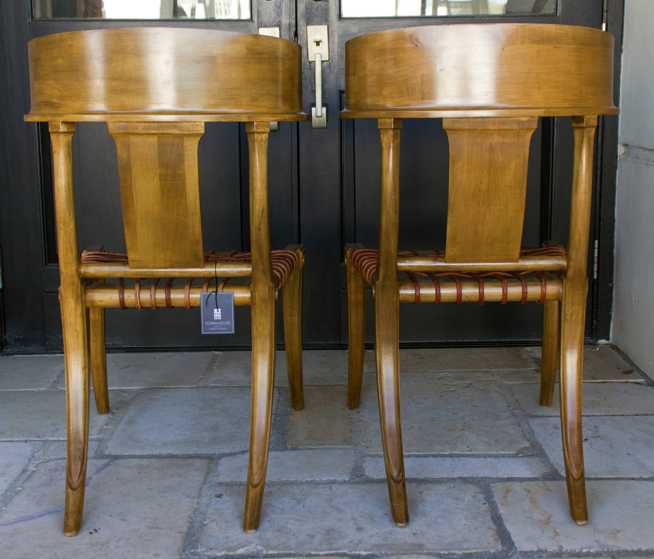Handsome Pair Of Klismos Chairs By Kreiss At 1stdibs