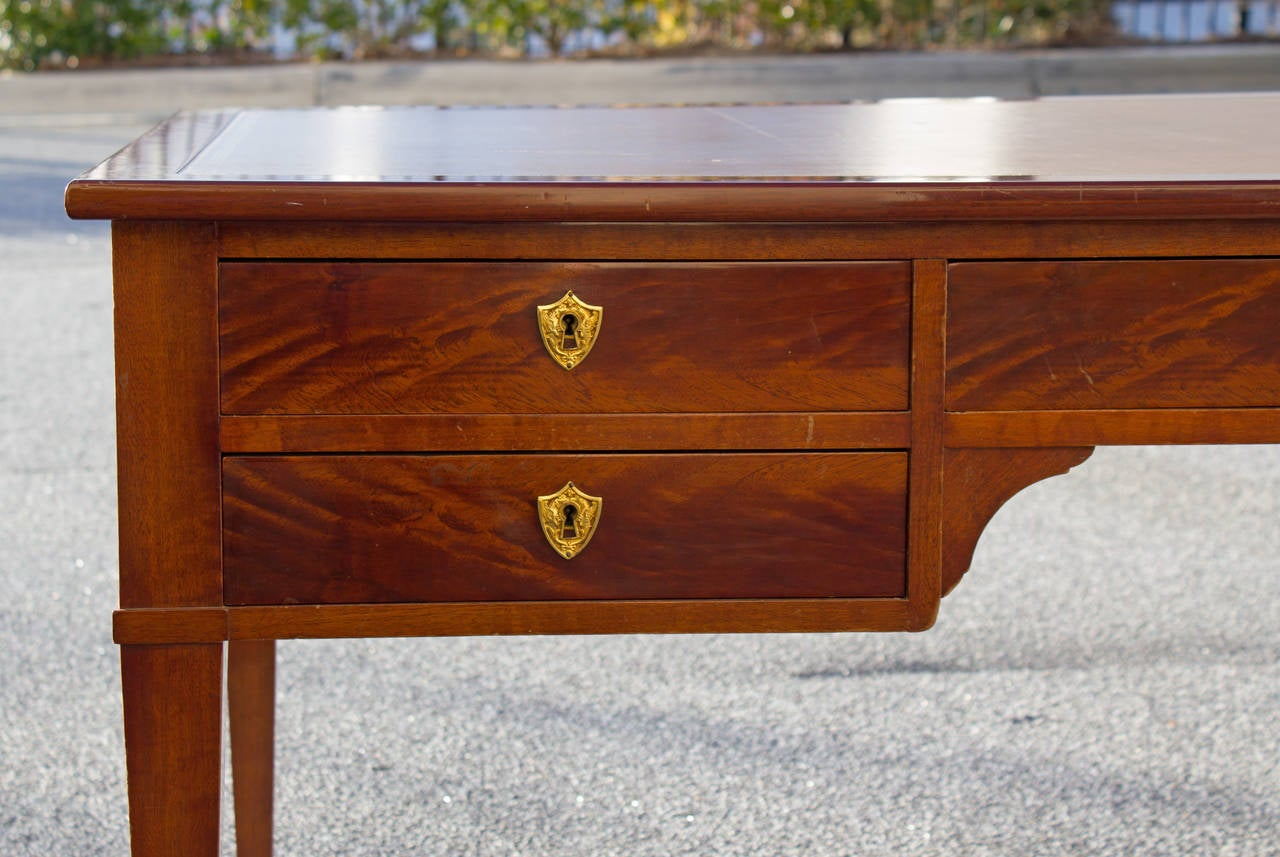 1940 Directoire Style Desk with Inset Leather Top For Sale 1