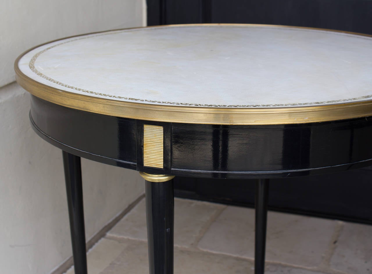 Pair of directoire style ebonized gueridon tables for sale for Table gueridon