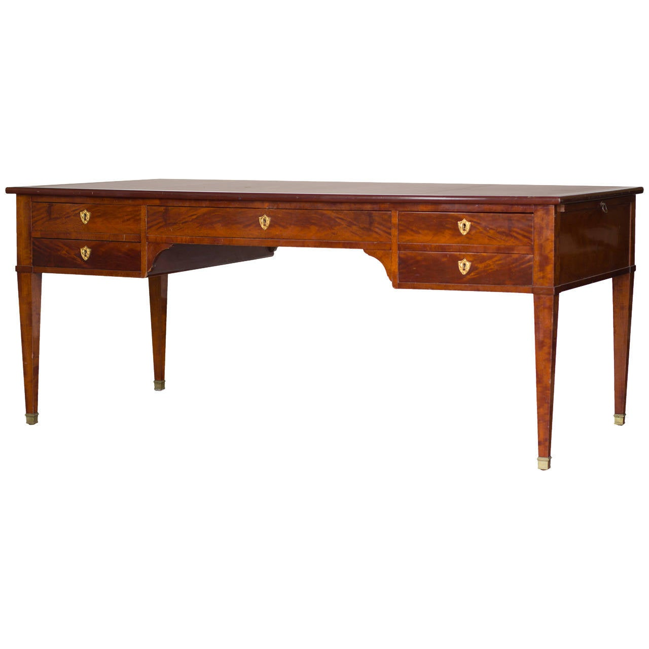 1940 Directoire Style Desk with Inset Leather Top For Sale
