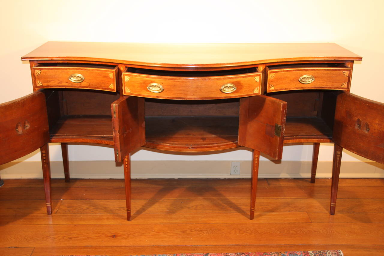 18th Century Hepplewhite Serpentine Front Mahogany Sideboard For ...