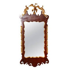 18th Century Chippendale Mahogany and Giltwood Mirror