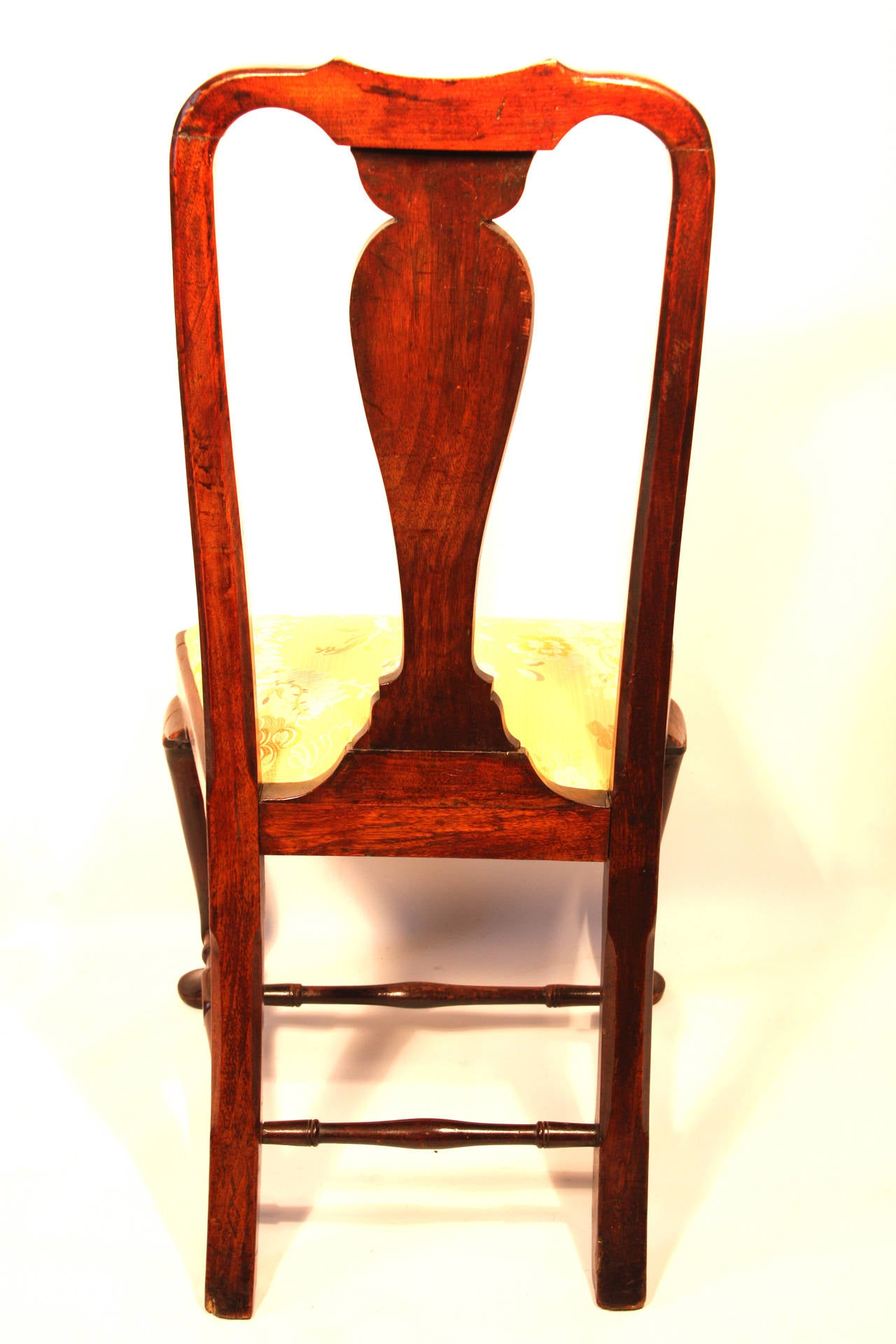 Pair of 18th Century Queen Anne Mahogany Side Chairs at 1stdibs