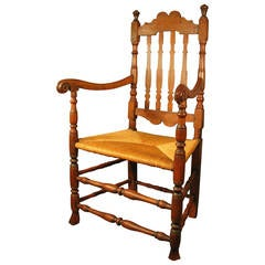 Mid-18th Century New England Bannister Back Armchair