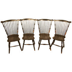 Set of Four 18th Century Fanback Windsor Chairs