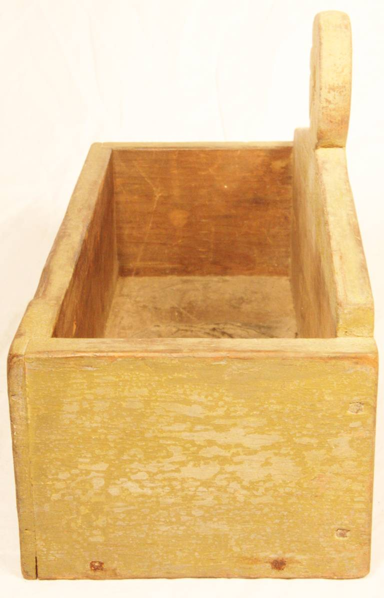 Wooden Wall Boxes : Early th century new england wooden hanging wall box