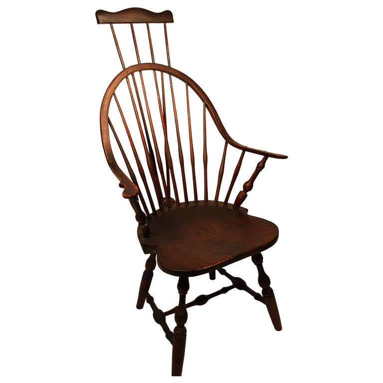 18th Century CT Windsor Continuous Arm Chair With Comb Extension (EB TRACY)  1