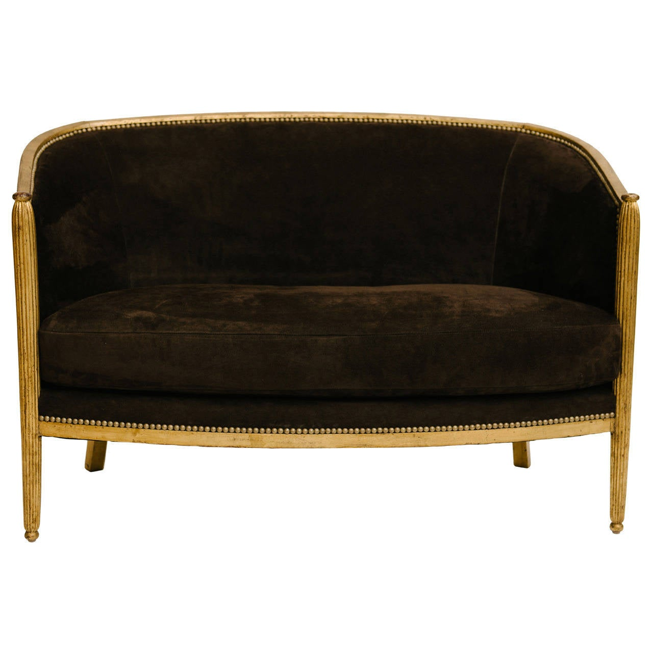gilt art deco canap at 1stdibs. Black Bedroom Furniture Sets. Home Design Ideas