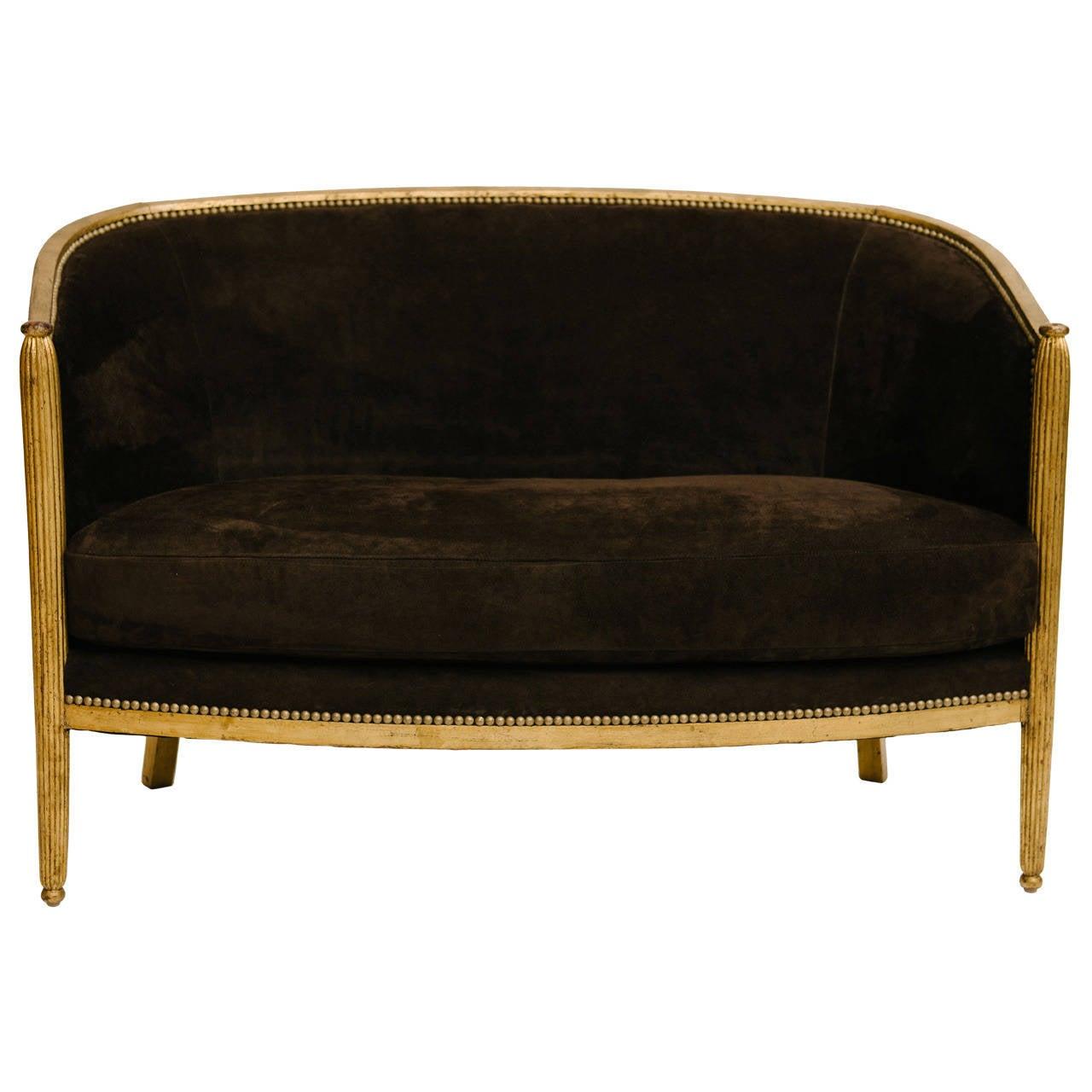 gilt art deco canap at 1stdibs. Black Bedroom Furniture Sets. Home Design Ideas
