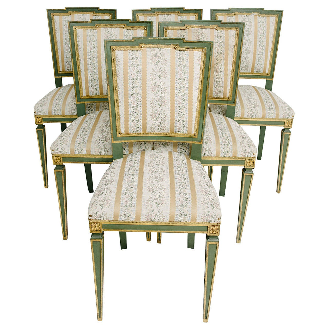 Painted Louis XVI Style Italian Dining Chairs At 1stdibs