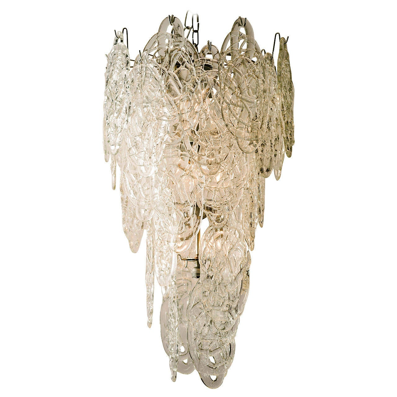 Vintage Murano Glass Chandelier At 1stdibs