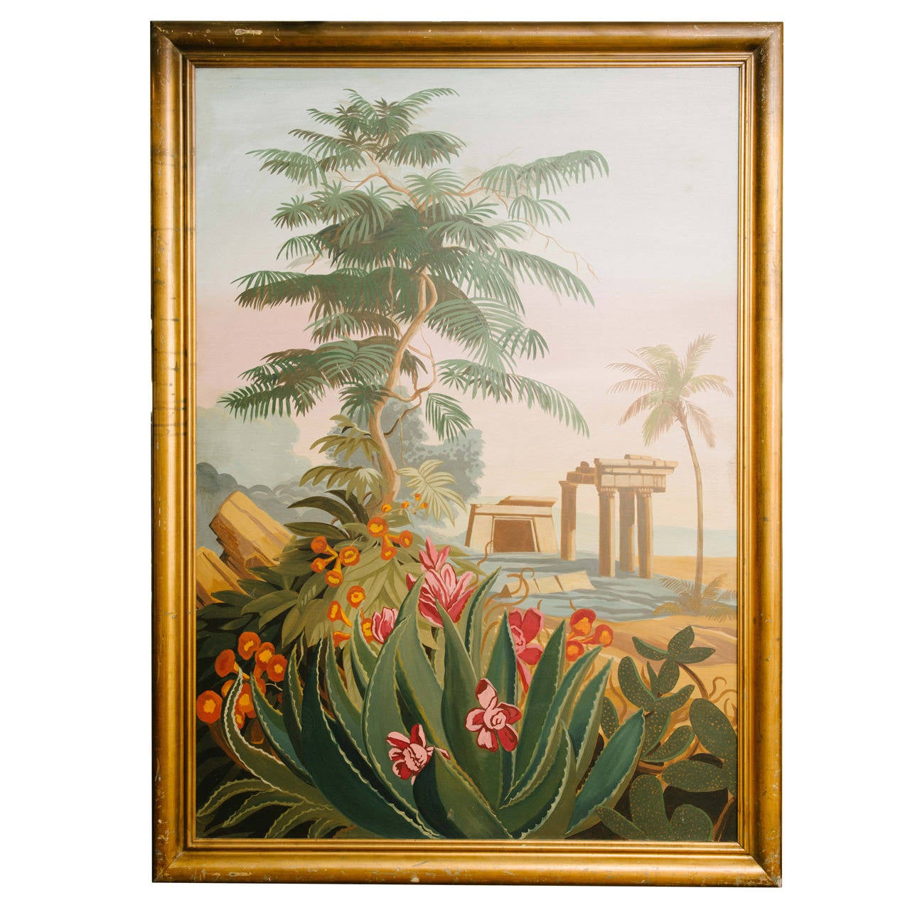 Vintage el dorado mural scene painting for sale at 1stdibs for Classic mural painting