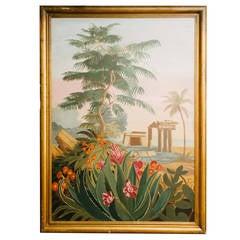 Vintage El Dorado Mural Scene Painting