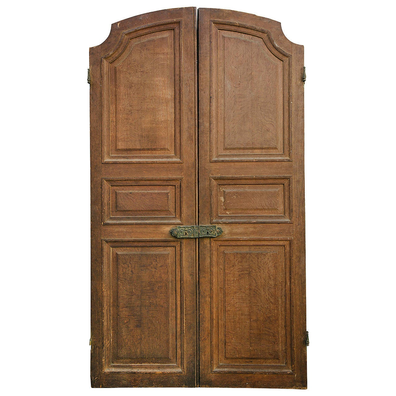 1280 #6E492B Antique French Oak Entry Doors 105 H X 60 W At 1stdibs save image Vintage Exterior Doors 41071280