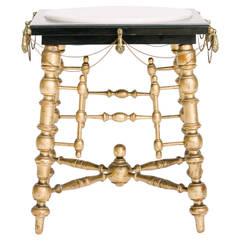 19th Century Gilt Edwardian Smoking Table