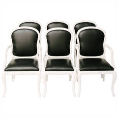 Serge Roche Style Italian Dining Chairs