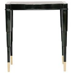 Black Deco Style Smoking Table