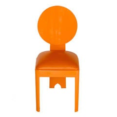 Period Art Deco Tangerine Lacquered Chair