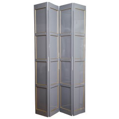 Grey Lacquered Four-Panel Screen