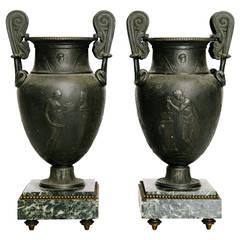 19th Century Greek Neoclassical Urns