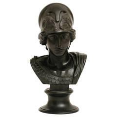 19th Century Wedgwood Black Basalt Minerva Bust