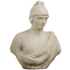 Monumental Italian Marble Bust