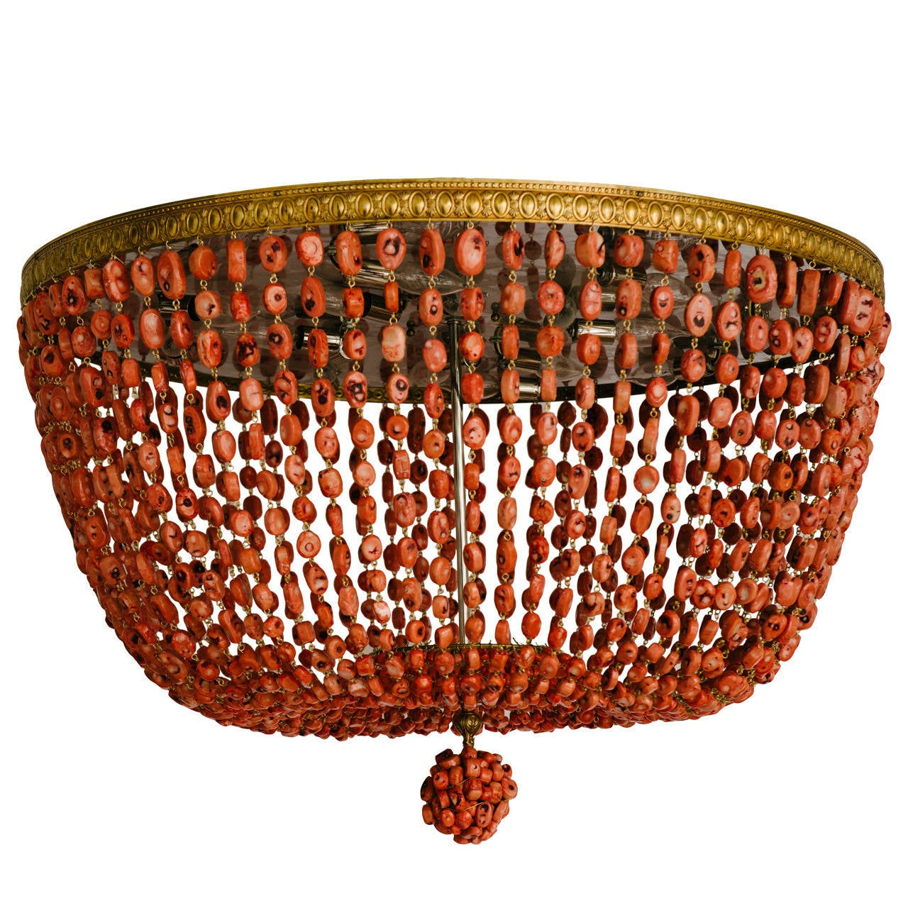 Custom hand beaded genuine salmon pink king coral chandelier 36d custom hand beaded genuine salmon pink king coral chandelier 36d for sale arubaitofo Images