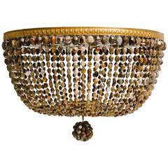 Vintage Custom Brass Agate Chandelier