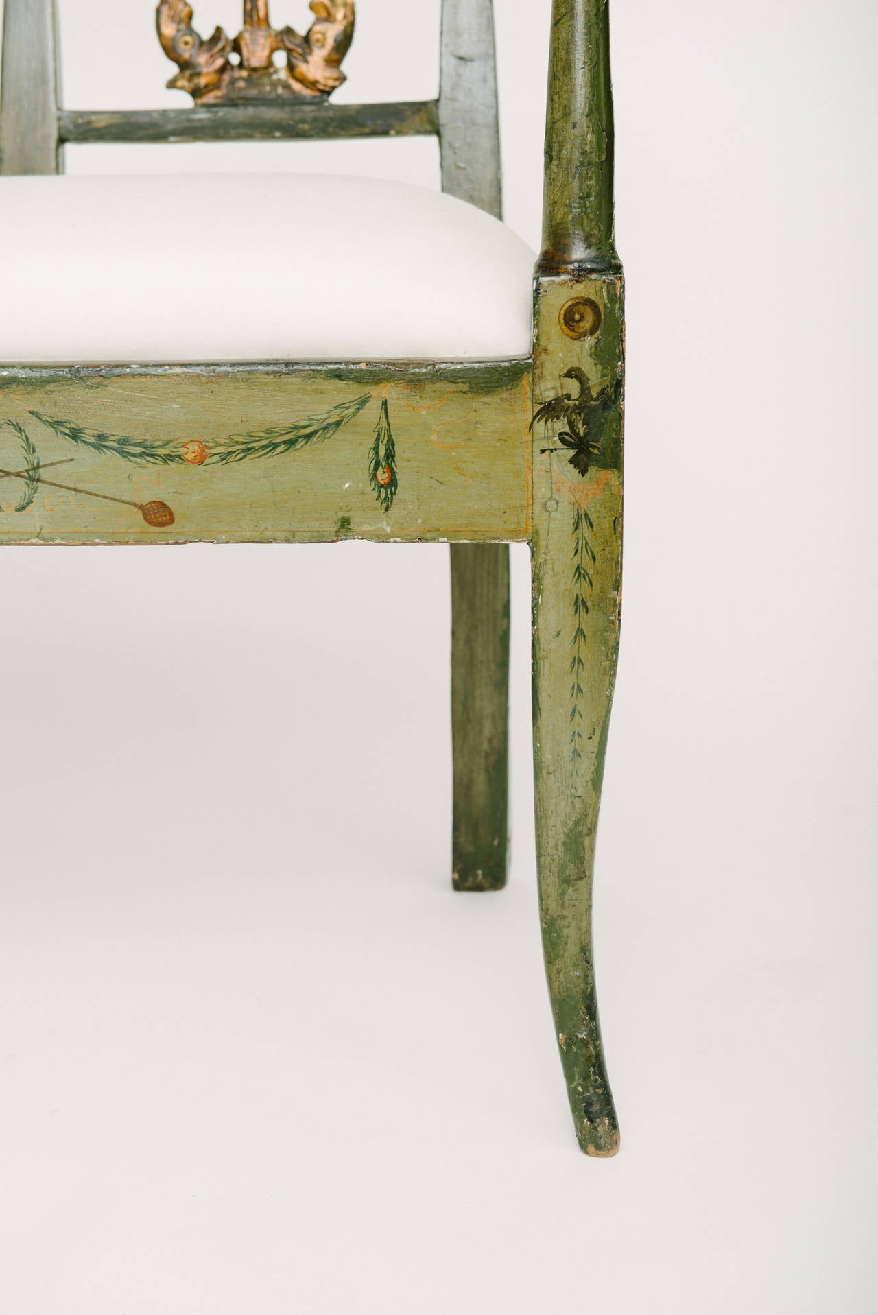 19th Century French Directoire Style Neoclassical Bench For Sale 2