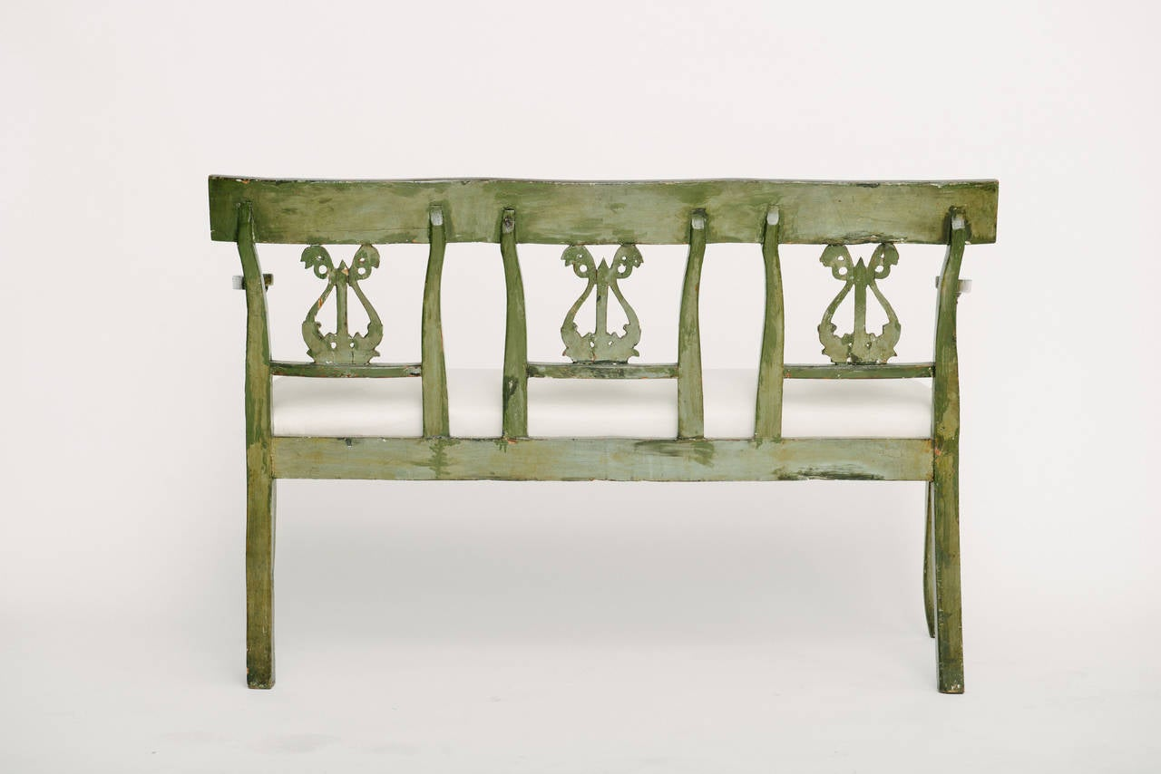 19th Century French Directoire Style Neoclassical Bench For Sale 3