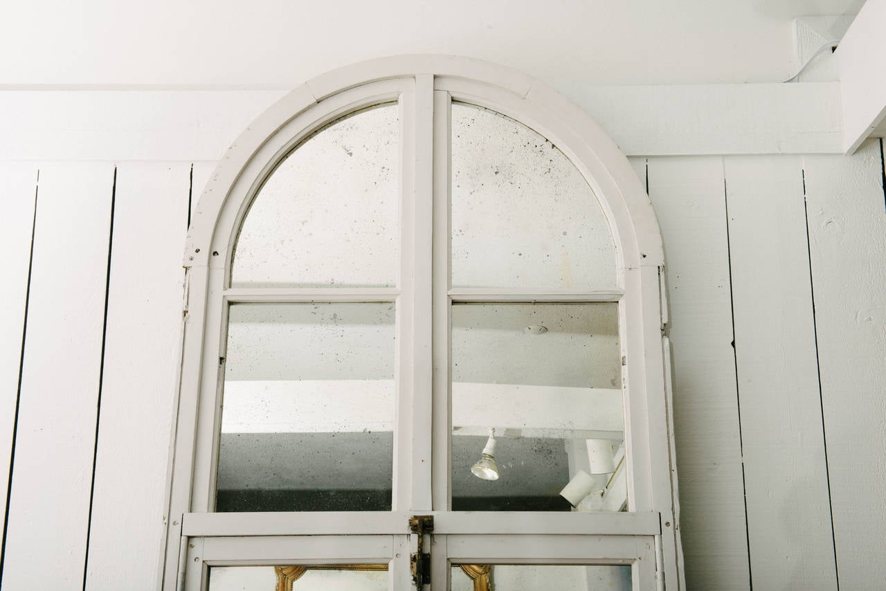 Pair of 19th century architectural arch window mirrors for for Window mirrors for sale
